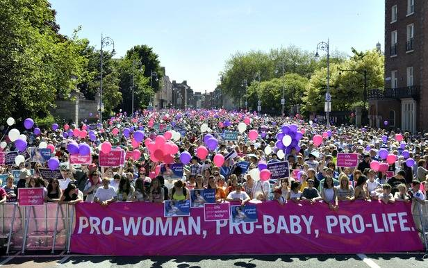 40,000 march against abortion bill in Dublin: largest pro-life march in Irish history